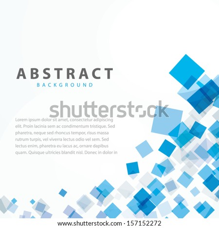 Blue squares business abstract background vector eps10 - stock vector