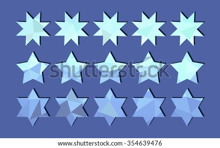 blue stars from triangles