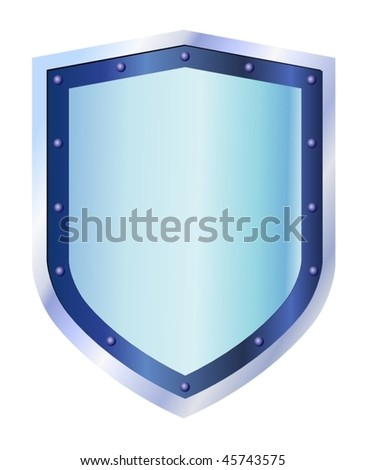 blue steel shield - stock vector