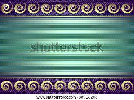 Blue striped card  with place for the text (vector) - stock vector