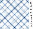 Blue Stripes Plaid - stock vector