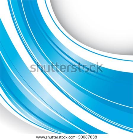 Blue strips - stock vector