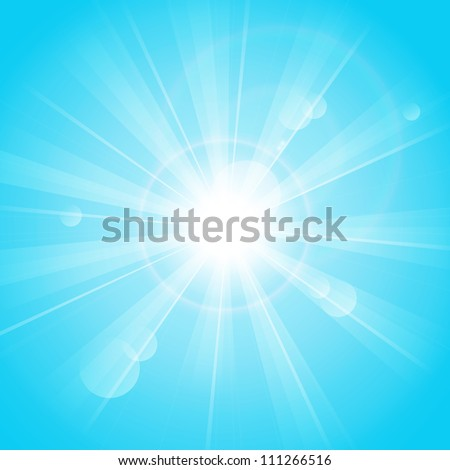Blue sunny background - stock vector