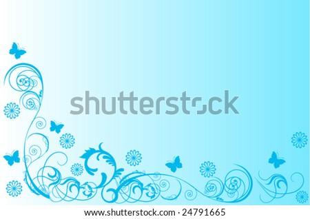 Blue swirls - stock vector