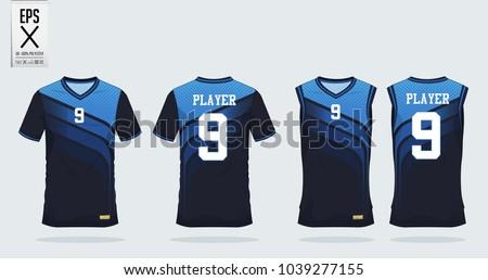 blue tshirt sport design template soccerのベクター画像素材