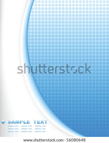 blue tech abstract background composition - vector illustration