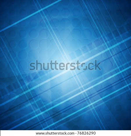 Blue tech abstract background. Eps 10 - stock vector