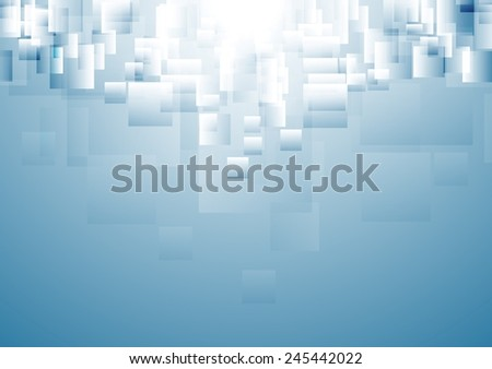 Blue tech geometric abstract background. Vector design - stock vector