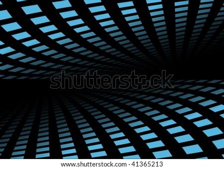 Blue techno background - stock vector