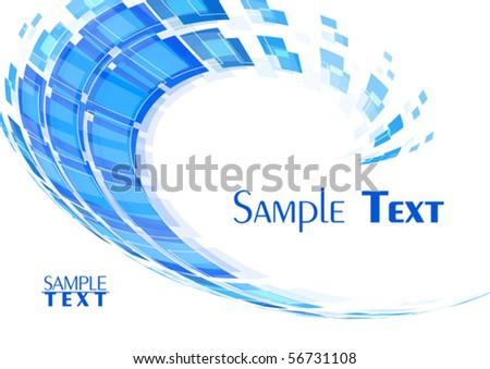 Blue techno template. Vector - stock vector