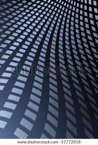 Blue techno vector squared slide abstraction - stock vector