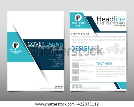 Blue Technology Annual Report Brochure Flyer Stock Photo (Photo ...