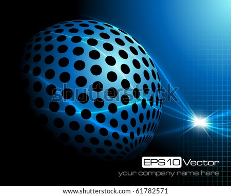 Blue technology background - vector illustration - stock vector