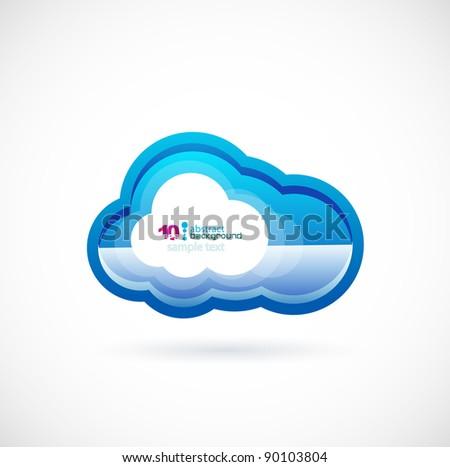 Blue technology cloud - stock vector