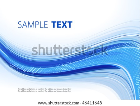 Blue template. Vector