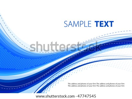 Blue template. Vector - stock vector