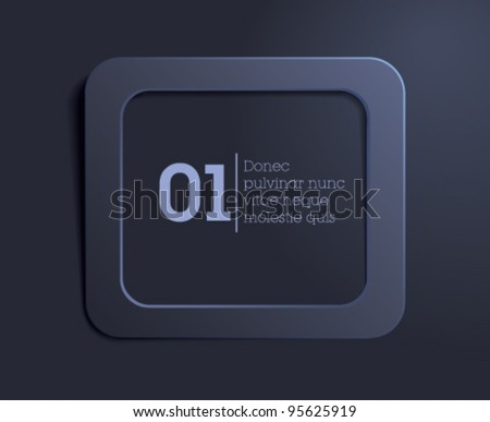blue text box / web button / simple blue background - stock vector
