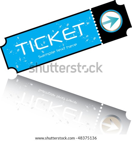 blue ticket vector - stock vector