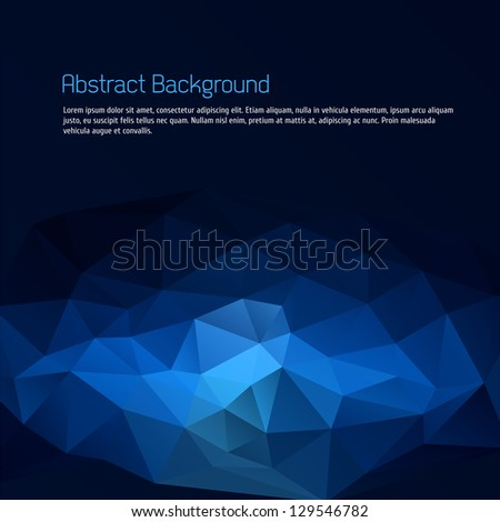 Blue triangle abstract background - stock vector