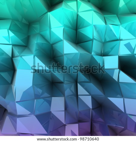 Blue triangle abstract. Vector background - stock vector