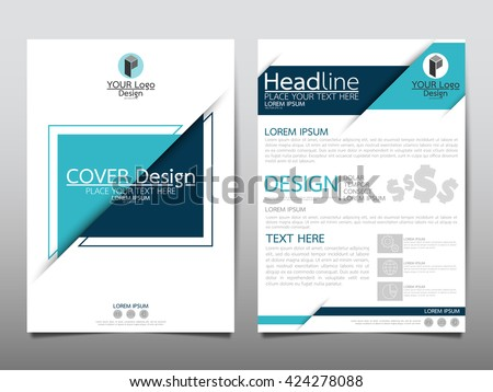 Blue Triangle Annual Report Brochure Flyer Stock Vector