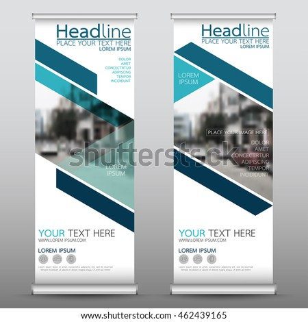 Blue Triangle Roll Business Banner Design Stock Vector 462439165 ...
