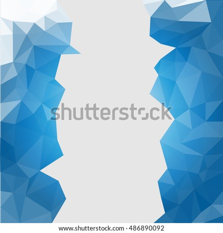 blue triangles abstract background.