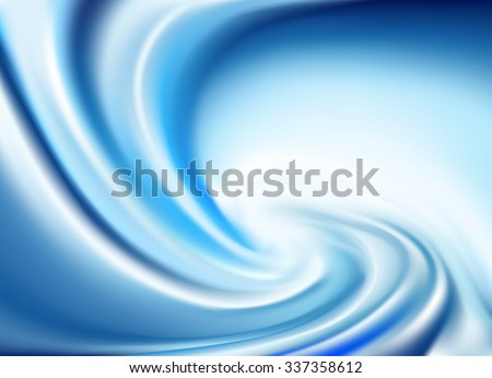 Blue Twirl Background (Vector) - stock vector