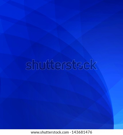 Blue vector abstract background - stock vector