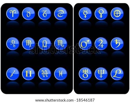 blue vector astronomy icon - stock vector