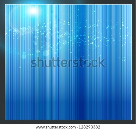 Blue Vector Background - stock vector