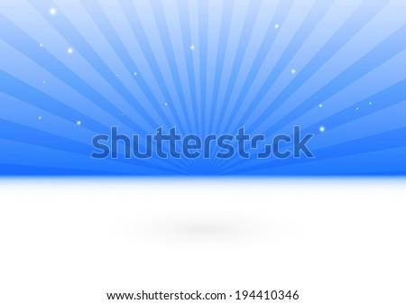 Blue vector background burst scene template - Vector 3D design background illustration scene - stock vector