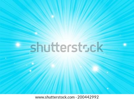 Blue vector burst of stars abstract vector illustration - Abstract blue star burst background template - stock vector
