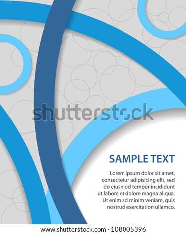 blue vector business background with circles - stock vector