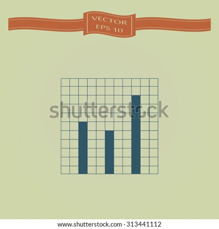 Blue Vector Business Growing Chart Presentation Icon