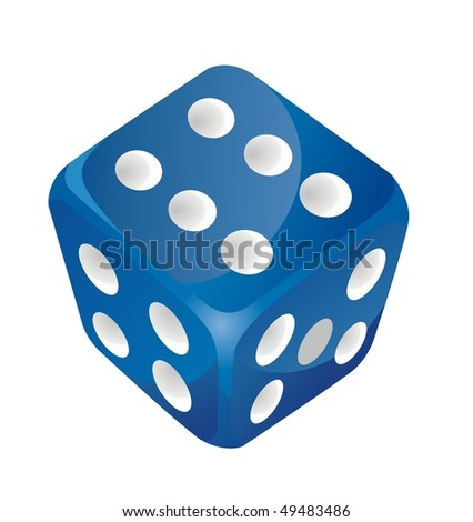 blue vector dice - stock vector