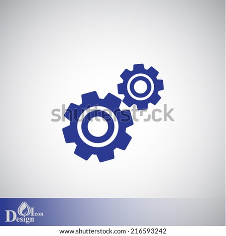 blue vector icon on gray background - stock vector