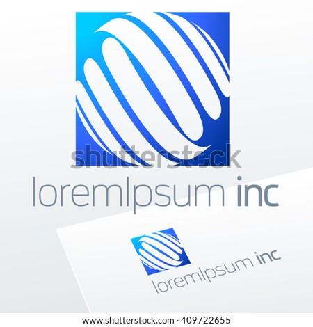 Blue Vector Logo Emblem Business Corporation Stock Vector 409722655