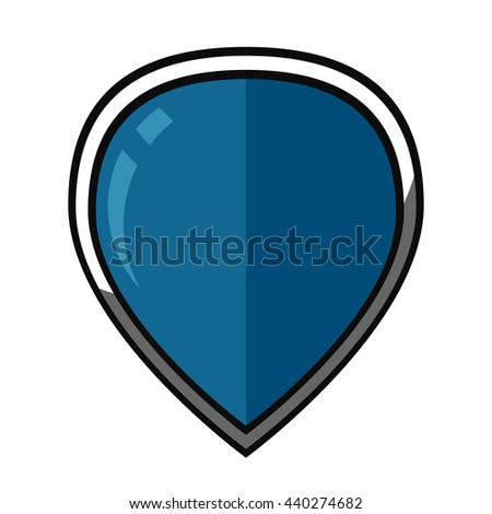 Blue vector shield icon.