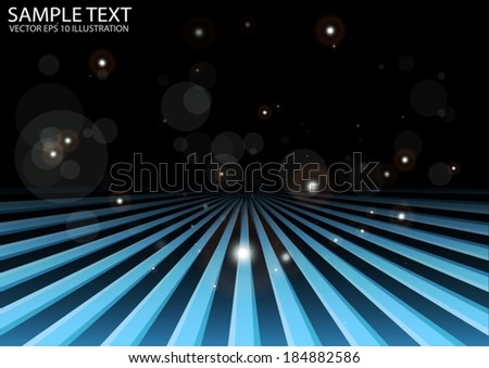 Blue vector space travel background illustration - Vector space runway template illustration - stock vector