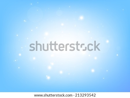 Blue vector stars background  illustration - Vector abstract blue shiny sparkle template background - stock vector