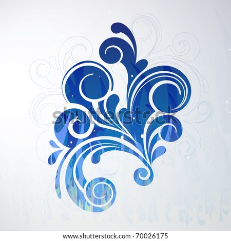 Blue vector swirly
