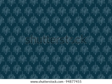 blue vintage background pattern - stock vector