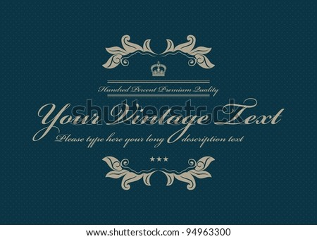 blue vintage dotted background pattern - stock vector