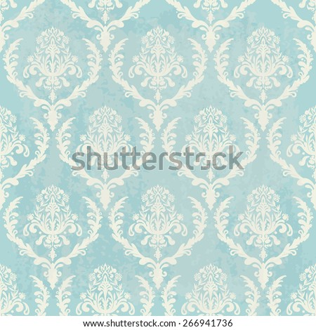 blue vintage wallpaper with texture - stock vector
