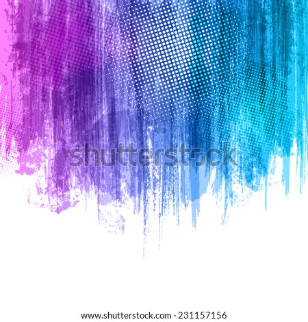Blue Violet Paint Splashes Gradient Background. Vector eps 10 design illustration with place for your text and logo - stock vector