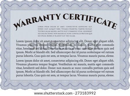 Blue warranty certificate template stock vector hd royalty free blue warranty certificate template yadclub Gallery