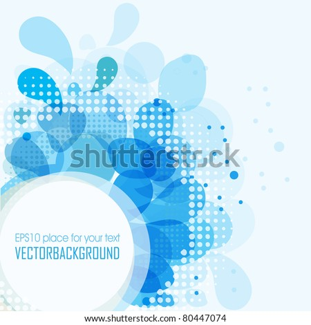 Blue water drops background - stock vector