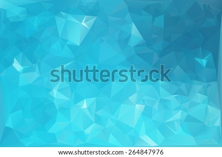 Blue Water Polygonal Mosaic Background, Creative  Business Design Templates  - stock vector