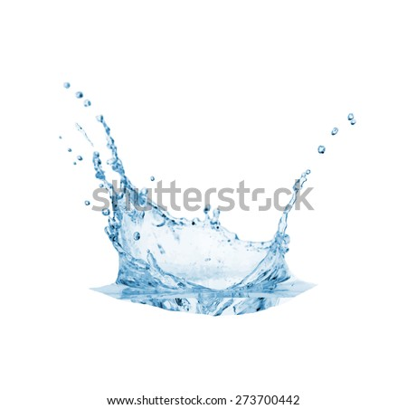 Blue water splash, vector illustration  - stock vector